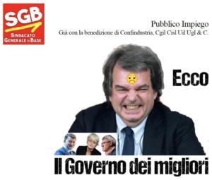 Read more about the article Pubblico impiego – Già con la benedizione di Confindustria, Cgil Cisl Uil Ugl & C.