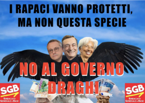 Read more about the article NO AL GOVERNO DRAGHI