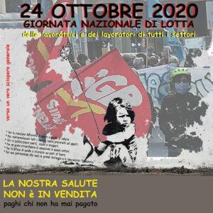 Read more about the article 24 OTTOBRE TUTTI IN PIAZZA GIORNATA NAZIONALE DI LOTTA DI TUTTE LE LAVORATRICI E I LAVORATORI