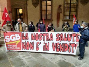 Bologna: LA RABBIA DEI LAVORATORI DELLA SCUOLA AL PRESIDIO DI OGGI  CONVOCATO DA SGB