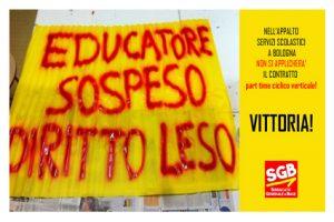Read more about the article SeRvizi scolastici integrativi Comune di Bologna: Vittoria!