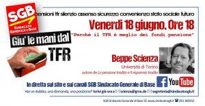 Read more about the article Giù le mani dal Tfr: VENERDI 18 GIUGNO. ORE 18. IN DIRETTA CON IL PROF. BEPPE SCIENZA