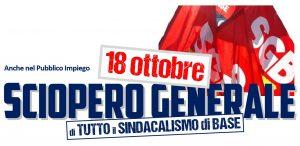 Read more about the article PUBBLICO IMPIEGO: 18 OTTOBRE SCIOPERO GENERALE DI TUTTO IL SINDACALISMO DI BASE!
